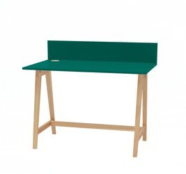 LUKA Ashwood Writing Desk 110x50cm / Bottle Green