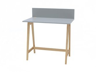 LUKA Ashwood Writing Desk 85x50cm / Light Grey