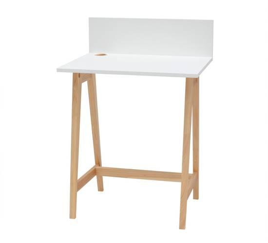 LUKA Ashwood Writing Desk 65x50cm / White
