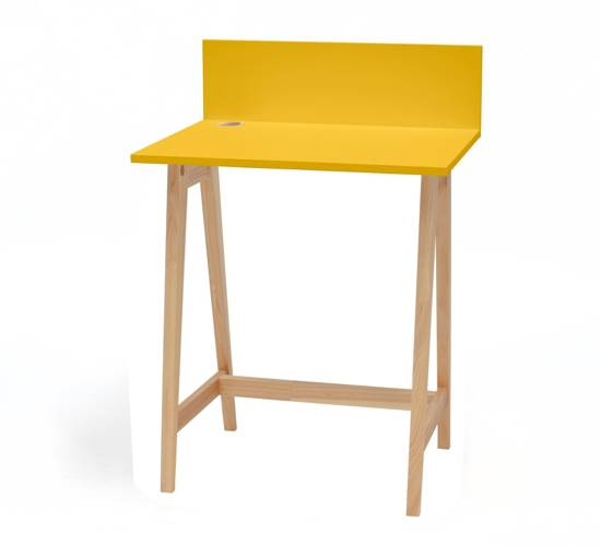 LUKA Ashwood Writing Desk 65x50cm / Yellow