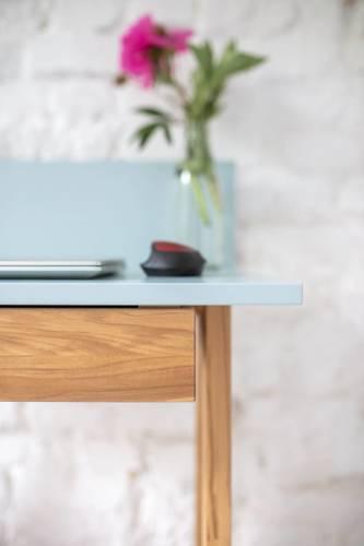 LUKA Ashwood Writing Desk 65x50cm with Drawer / Navy Blue