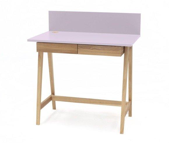 LUKA Ashwood Writing Desk 85x50cm with Drawer / Dusky Pink