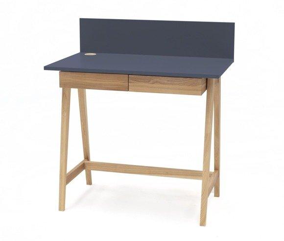 LUKA Ashwood Writing Desk 85x50cm with Drawer / Graphite