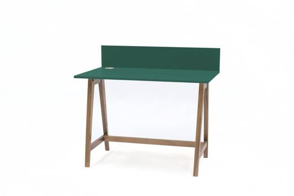 LUKA Writing Desk 110x50cm Oak / Bottle Green