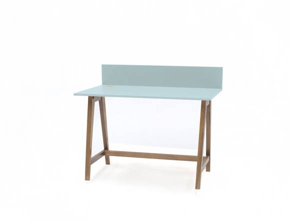 LUKA Writing Desk 110x50cm Oak / Light Turquoise