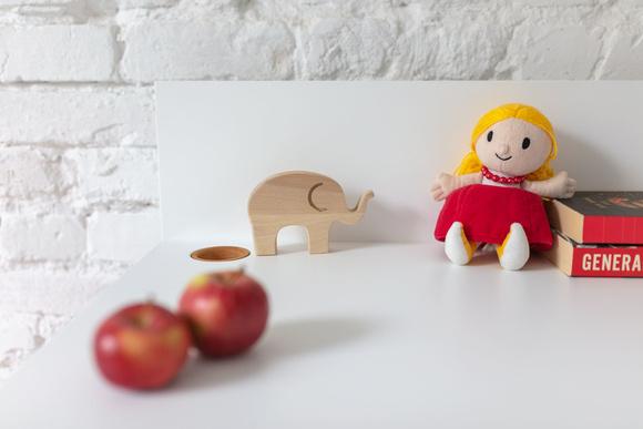 LUKA Writing Desk 110x50cm Oak / Red