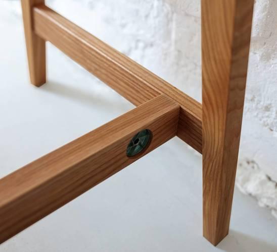 LUKA Writing Desk 65x50cm with Drawer Oak / Graphite
