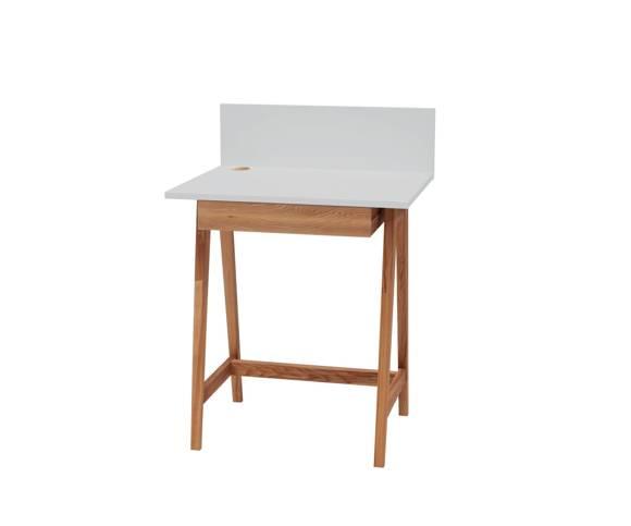 LUKA Writing Desk 65x50cm with Drawer Oak / Light Grey