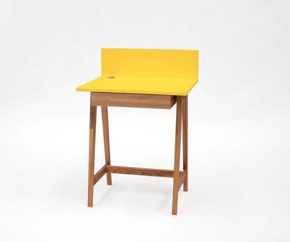LUKA Writing Desk 65x50cm with Drawer Oak / Yellow
