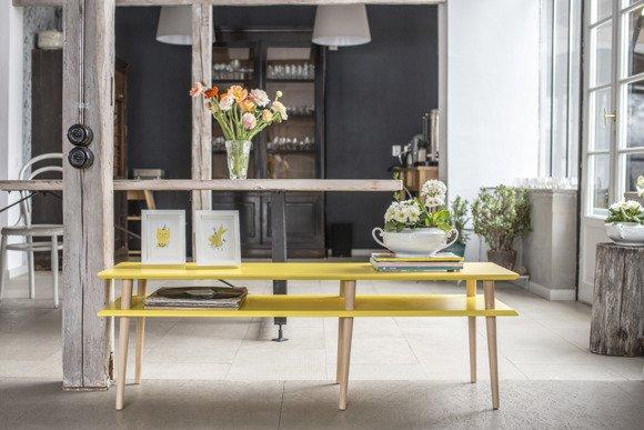 MUGO Sideboard 139x40x45 - Yellow
