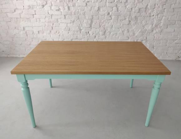 NATA Oak Dining Table 140x90cm - Mint Base