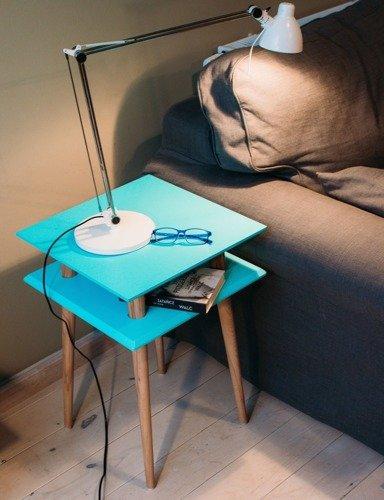 SQUARE Coffee Table 43x43x61cm - Dark Turquoise