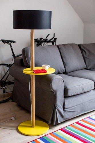 UFO Floor Lamp 45x150cm - Yellow / Black Lampshade
