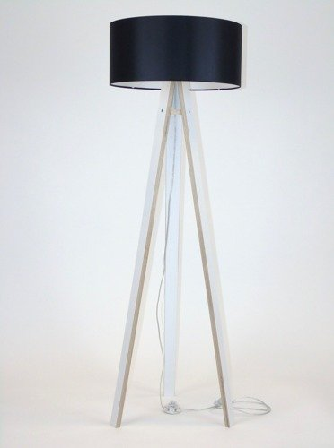 WANDA Floor Lamp 45x140cm - White / Black Lampshade