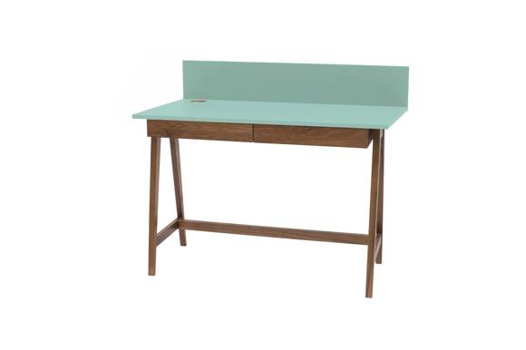 LUKA Schreibtisch 110x50cm mit Schublade Eiche / Minze