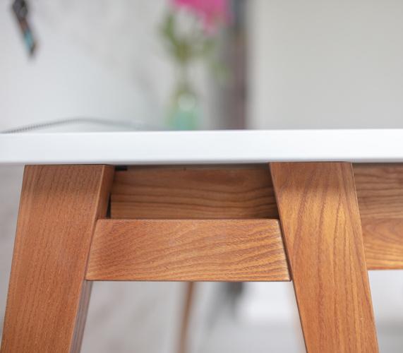 LUKA Schreibtisch 85x50cm mit Schublade Eiche / Hellgrau