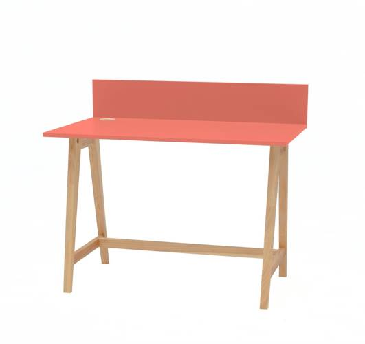 Luka Eschenholz Schreibtisch 110x50cm / Koralle