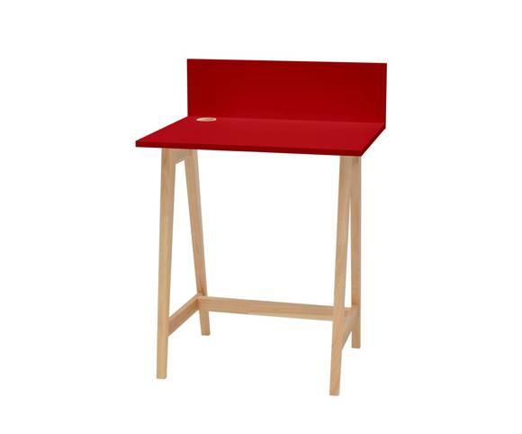 Luka Eschenholz Schreibtisch 65x50cm / Rot