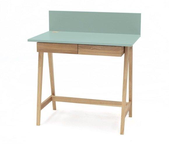 Luka Eschenholz Schreibtisch 85x50cm mit Schublade / Minze