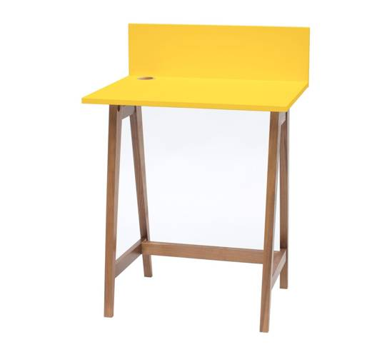 Luka Schreibtisch 65x50cm Eiche / Gelb