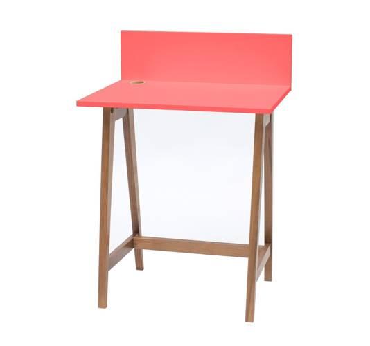 Luka Schreibtisch 65x50cm Eiche / Koralle