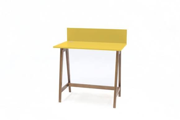 Luka Schreibtisch 85x50cm Eiche / Gelb