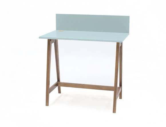 Luka Schreibtisch 85x50cm Eiche / Helles Türkis